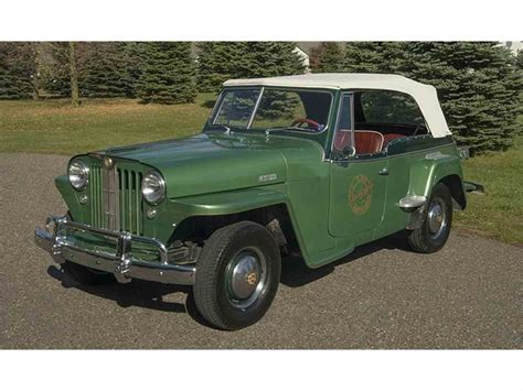 1949 willys jeepster 1949 willys jeepster for sale classiccars com cc 874455