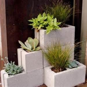 Unique Flower Planter Ideas by Unique Flower Pot Or Container Ideas Cement Blocks Ideas