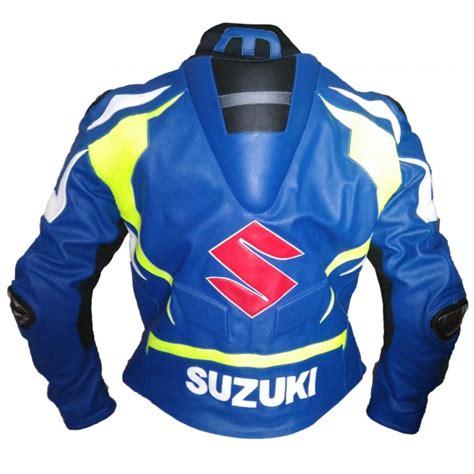 suzuki jacket suzuki gsxr gsx r gixxer leather jacket blue yellow s