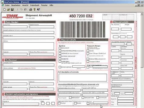 dhl warehouse receipt template anyform kostenlose formularvorlagen f 252 r zollformulare