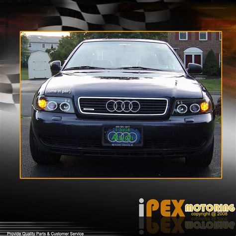 audi a4 b5 headlights 1996 1999 audi a4 s4 b5 halo projector led black