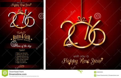 new year restaurant 2016 happy new year restaurant menu template stock vector
