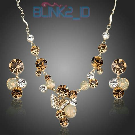 Kalung Korea Fashion 4 jual kalung dan anting korea ax set0155