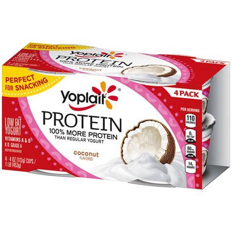 protein yogurt walmart yoplait protein coconut low yogurt cups 4 oz 4 count