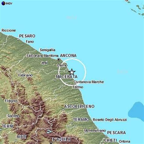 previsioni porto recanati scossa di terremoto di magnitudo 3 0 a porto recanati sul