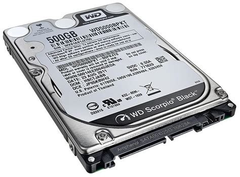 Harddisk Laptop 500gb 500gb western digital scorpio black sata 2 5 inch laptop drive 7200rpm 16mb cache