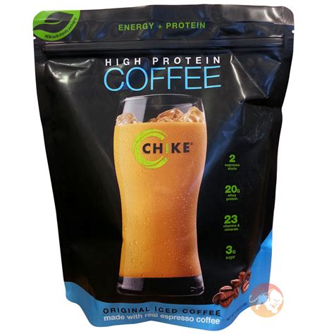 protein coffee chike high protein iced coffee free p p predator nutrition
