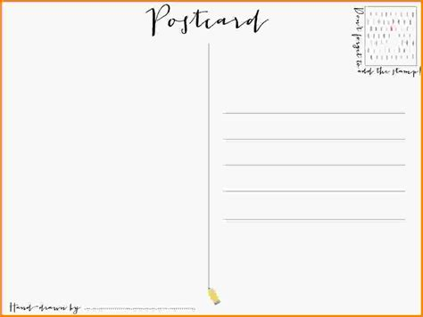 Free Printable Postcards Free Postcard Template Post Card Template 02 600w Jpg