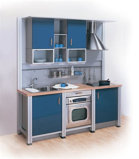 compact kitchen layout the kitchen gallery aluminium and stainless steel kitchens studio in blue