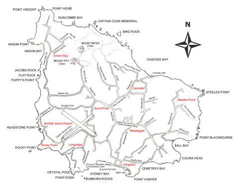 norfolk island map norfolk island map norfolk island mappery