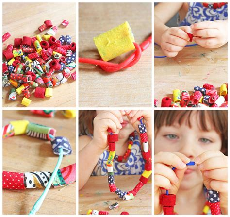 Design for Kids: How to Make Fabric Beads   Babble Dabble Do