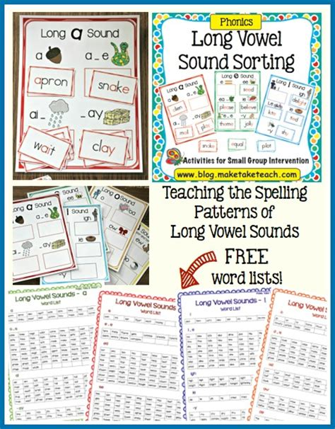 spelling pattern in words with long a sound teaching long vowel spelling patterns make take teach