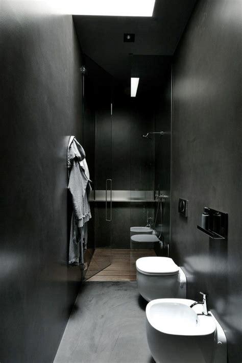 Schwarzes Badezimmer Das Ideen Verziert by Wandfarbe Schwarz 59 Beispiele F 252 R Gelungene Innendesigns