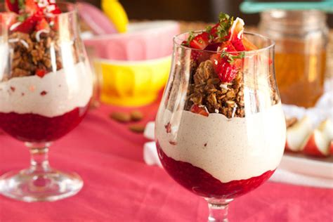 raspberry lime parfaits a light and refreshing brunch dessert berries n coconut yogurt parfaits healthful pursuit