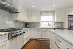 Backsplash Ideas For White Kitchen Cabinets by River White Granite White Cabinets Backsplash Ideas