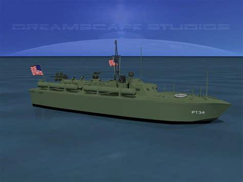 pt boat elco 3d model elco pt boat pt 34 vr ar low poly rigged max