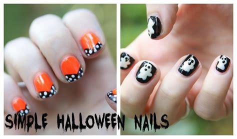easy nail art on youtube easy halloween nail art designs no nail art tools needed