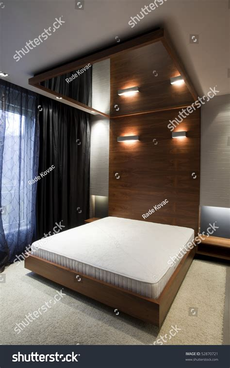 mirror in the ceiling in bedroom bedroom with mirror on the ceiling stock photo 52870721