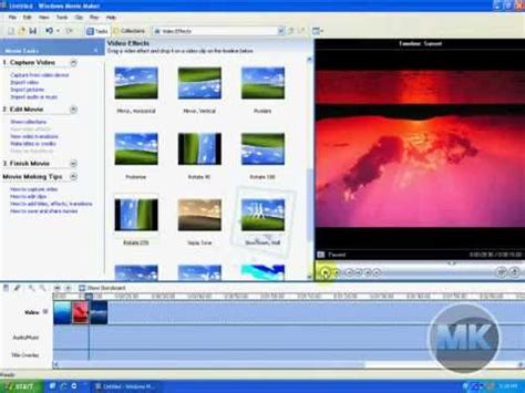 tutorial movie maker xp windows xp movie maker rotate a video or image youtube