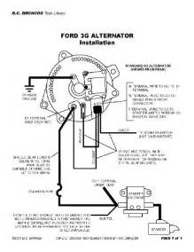 broncofix wiring internally regulated alternator for the 1966 77 early ford bronco