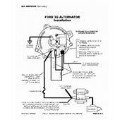 BroncoFix Wiring Internally Regulated Alternator  For