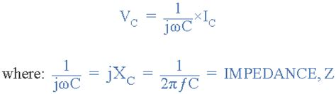 voltage across capacitor formulas ac capacitance and capacitive reactance in ac circuit