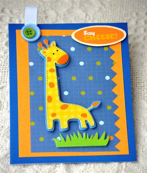 Handmade Cards For Boys - giraffe card birthday card 1st birthday birthday boy card