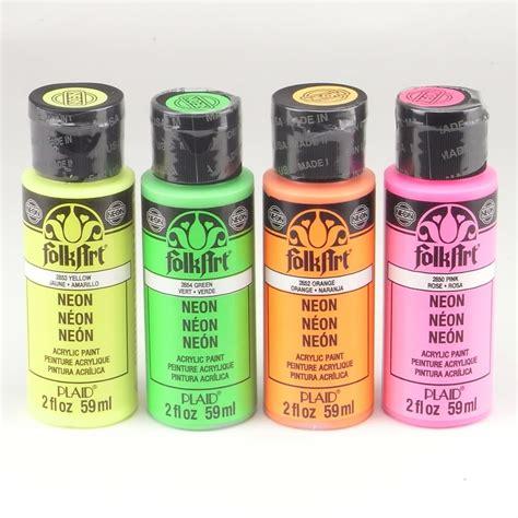 folk acrylic paint folkart acrylic paint bottle neon bundle craftyarts co uk