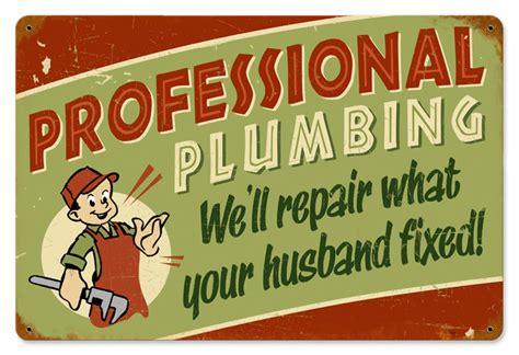 Plumbing Signs by Professional Plumbing Vintage Metal Sign