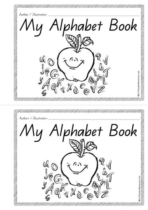 printable alphabet book printable alphabet book k 3 teacher resources