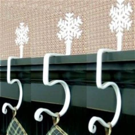 snowflake fireplace mantel stocking hooks from amazon all
