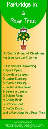 print a partridge in a pear tree christmas song lyrics