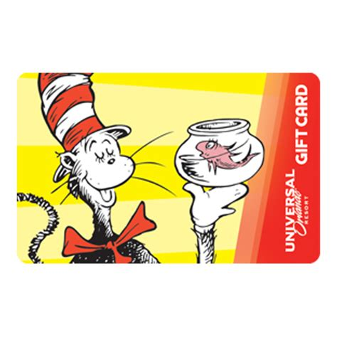 Gift Card Universal - your wdw store universal collectible gift card the cat in the hat