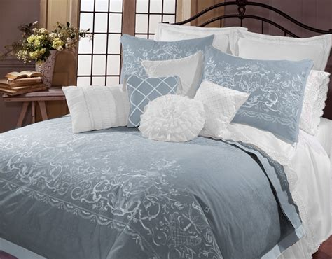 veratex bedding celestina by veratex 4pc king comforter set sky