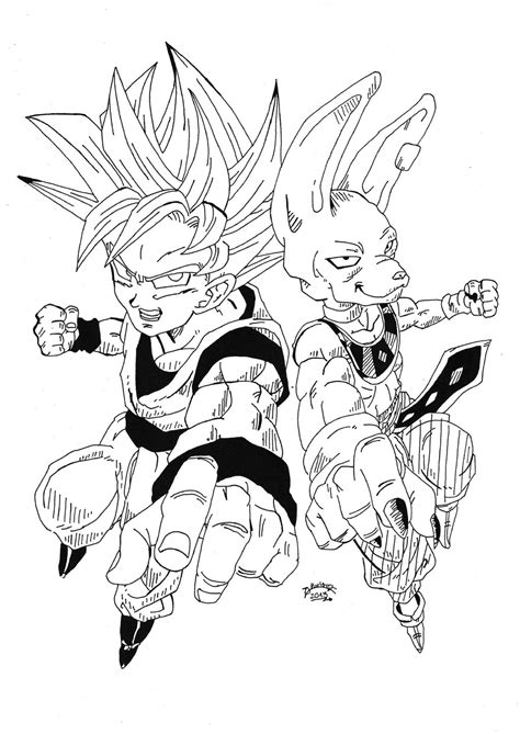 dragon ball z battle of gods 2 coloring pages dragonball z battle of gods goku and bills by triigun on
