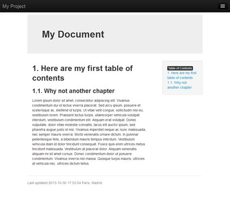 exle templates for asciidoc bootstrap