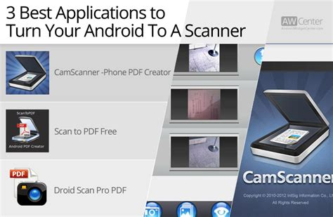 scanner apps for android 3 best apps to use android as scanner aw center