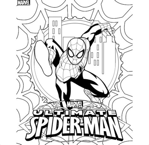 coloring pages of ultimate spider man 20 spiderman coloring pages jpg psd ai illustrator