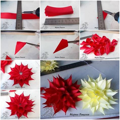 Paper Ribbon Flower - 108 best images about ribbon flowers on fabric