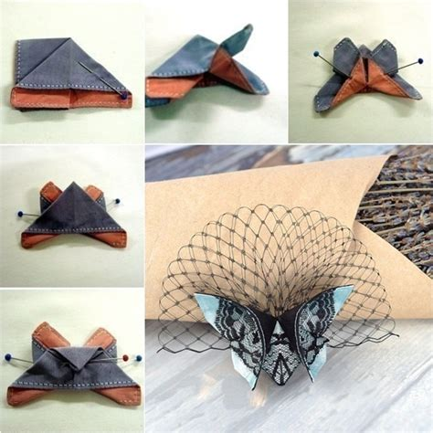 Cloth Origami - diy fabric origami butterfly tutorial