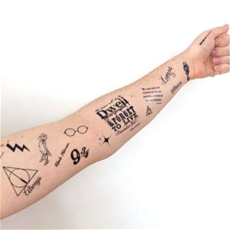 temporary tattoo large potter set from siideways