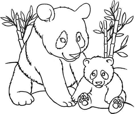 coloring page of panda bear cute panda coloring pages http freecoloring pages org