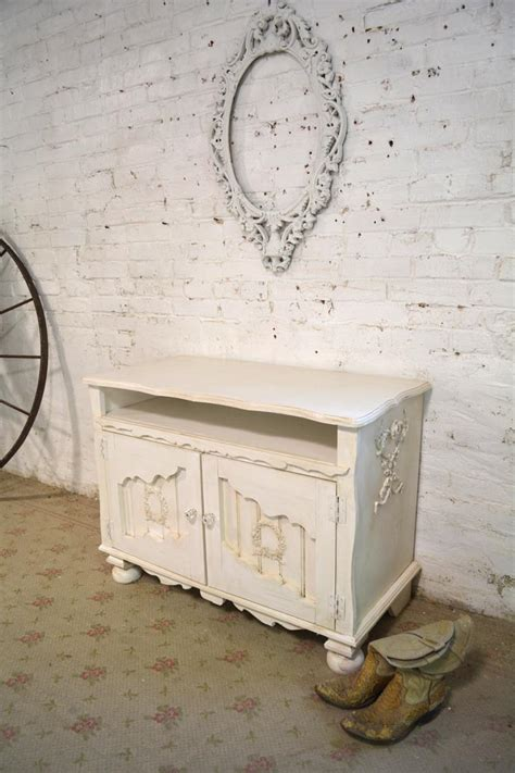 shabby chic media cabinet painted cottage chic shabby made farmhouse media