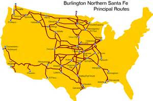 Bnsf Route Map by Bnsf Railway Map Images