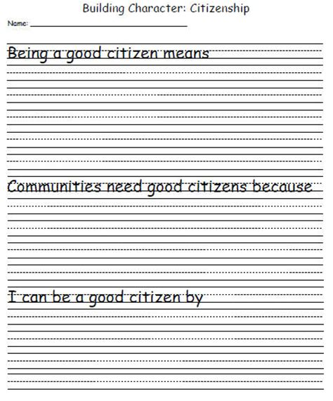 Citizenship Worksheets by Character Development Template Citizenship Education World