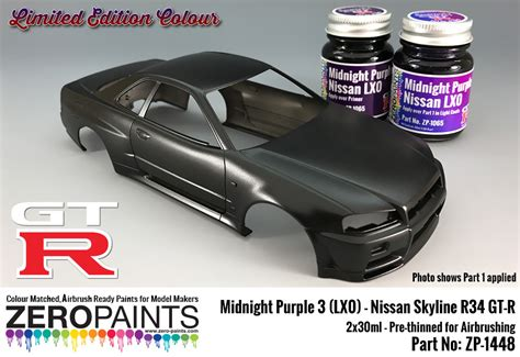 nissan midnight purple edition midnight purple 3 lx0 nissan gt r r34 2x30ml limited