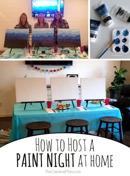 paint nite at home how to host a paint at home the creative