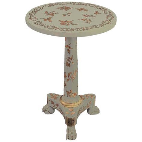 hand painted accent table regency style hand painted accent table or guerdion at 1stdibs