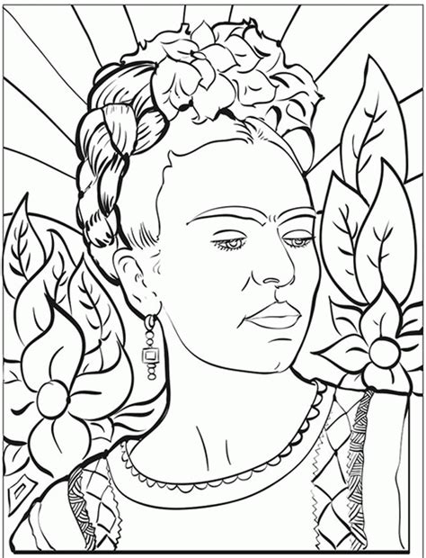 coloring book history frida kahlo coloring pages coloring home