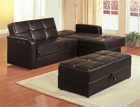 Kuser Contemporary Chaise Sofa Sleeper Sectional With Sectional Sofa With Storage And Sleeper
